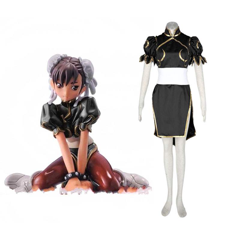 Street Fighter Chun-Li 2 Black Cosplay Costumes New Zealand Online Store