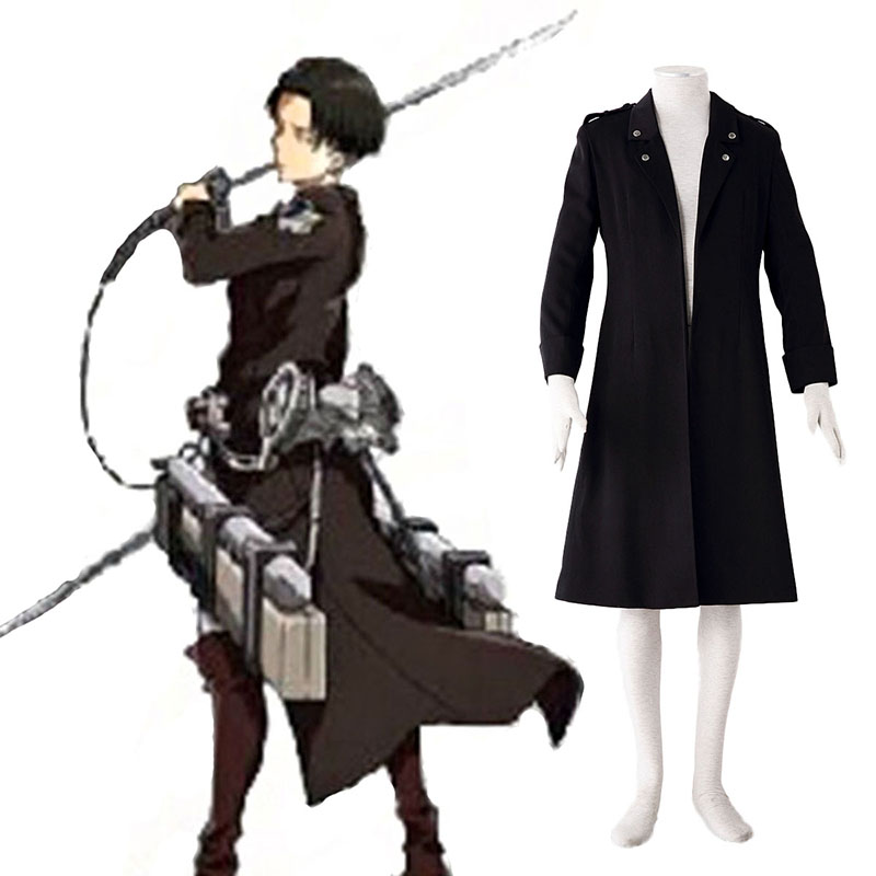 Attack on Titan Levi Black Cosplay Costumes New Zealand Online Store
