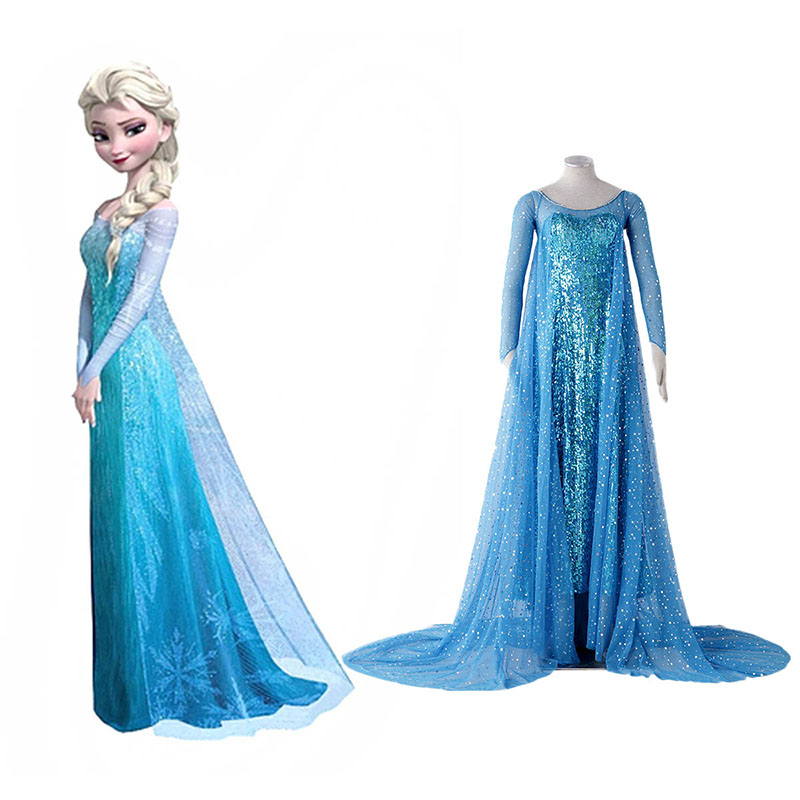Frozen Elsa 1 Blue Cosplay Costumes New Zealand Online Store