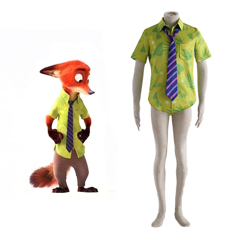 Zootopia Nick Shirt Cosplay Costumes New Zealand Online Store