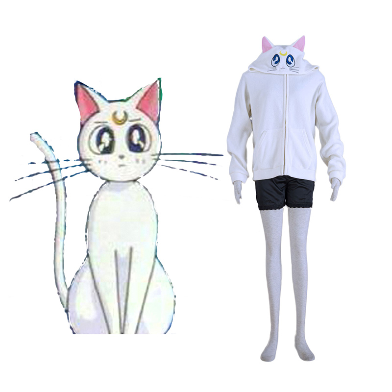 Sailor Moon White Cat Artemis Cosplay Costumes New Zealand Online Store