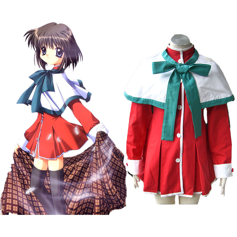 Kanon High School Uniforms Green Ribbon Cosplay Costumes New Zealand Online Store