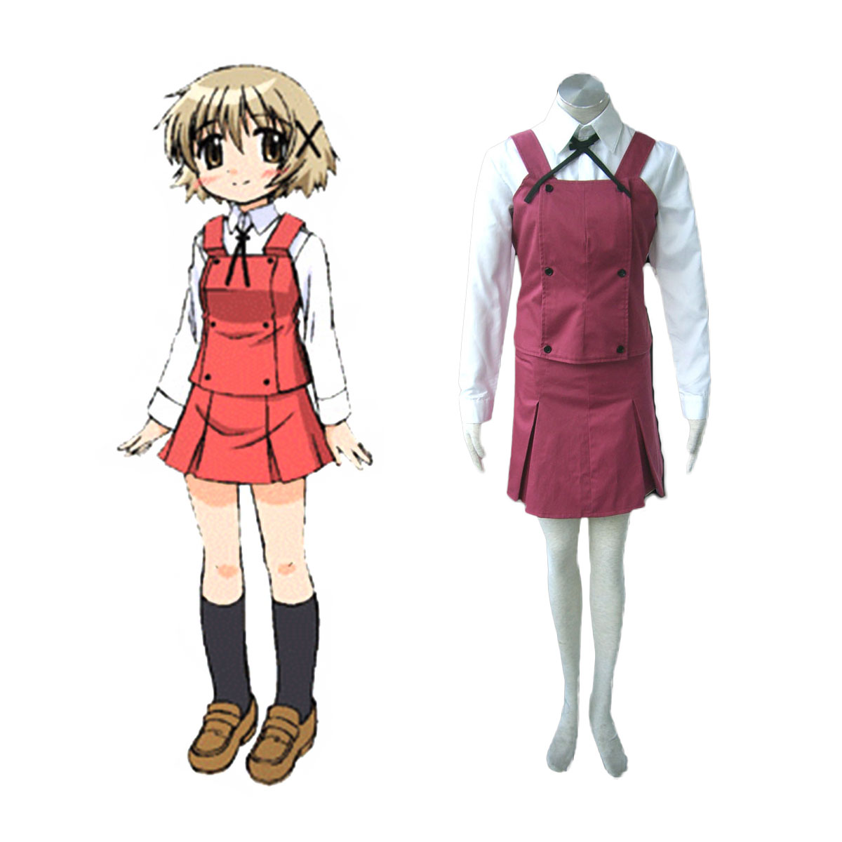 Hidamari Sketch Female School Uniform Cosplay Costumes New Zealand Online Store