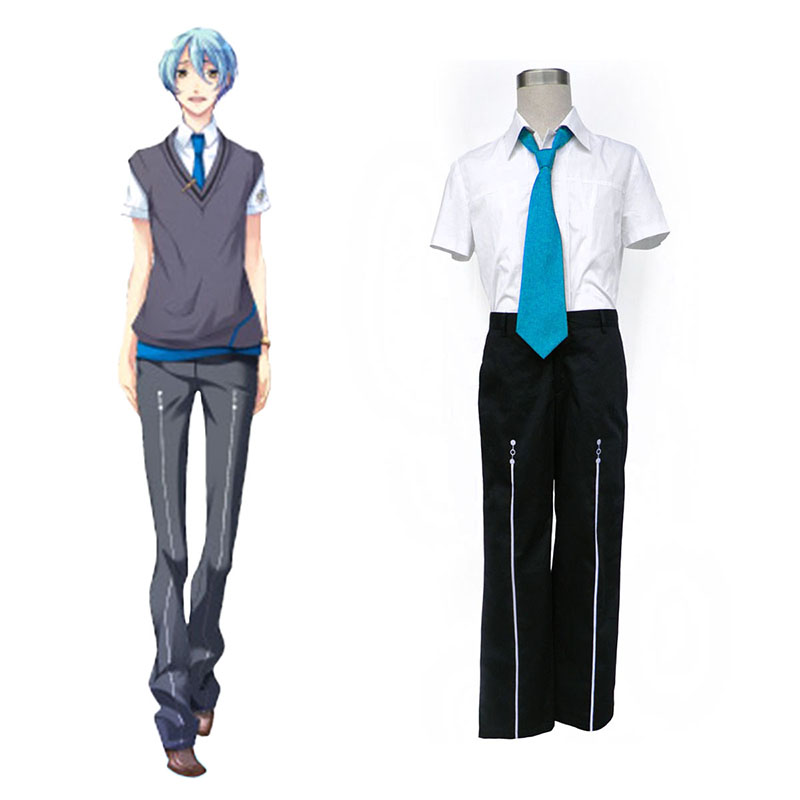 Starry Sky Male Summer School Uniform 3 Cosplay Costumes New Zealand Online Store