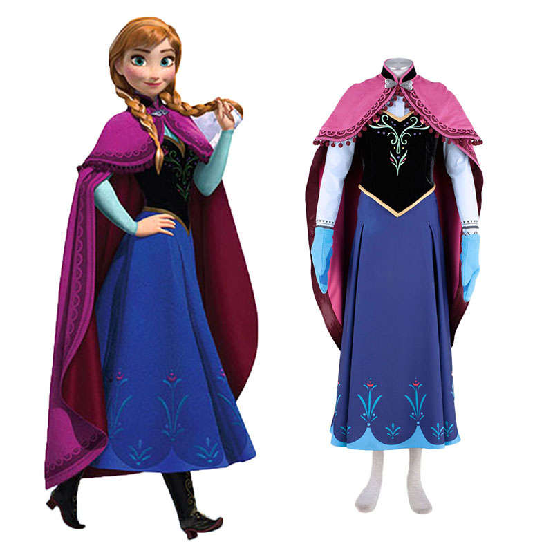 Frozen Anna 1 Cosplay Costumes New Zealand Online Store