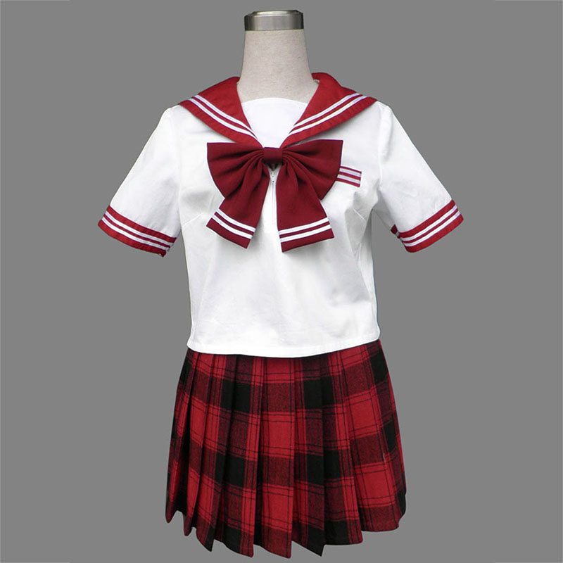 Sailor Uniform 6 Red Grid Cosplay Costumes New Zealand Online Store