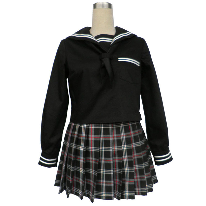 Sailor Uniform 7 Red Black Grid Cosplay Costumes New Zealand Online Store