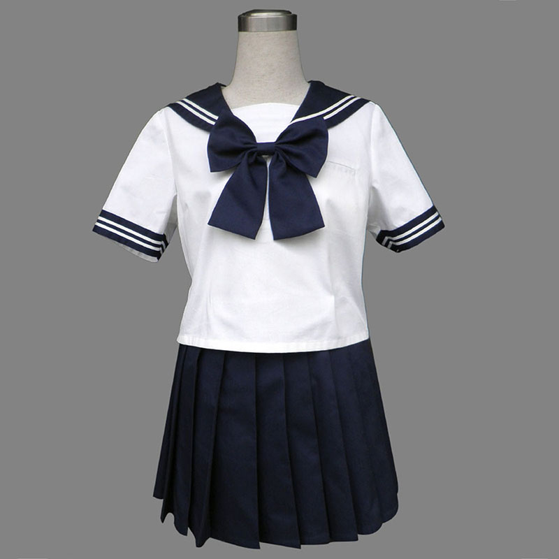 Royal Blue Short Sleeves Sailor Uniform 8 Cosplay Costumes New Zealand Online Store