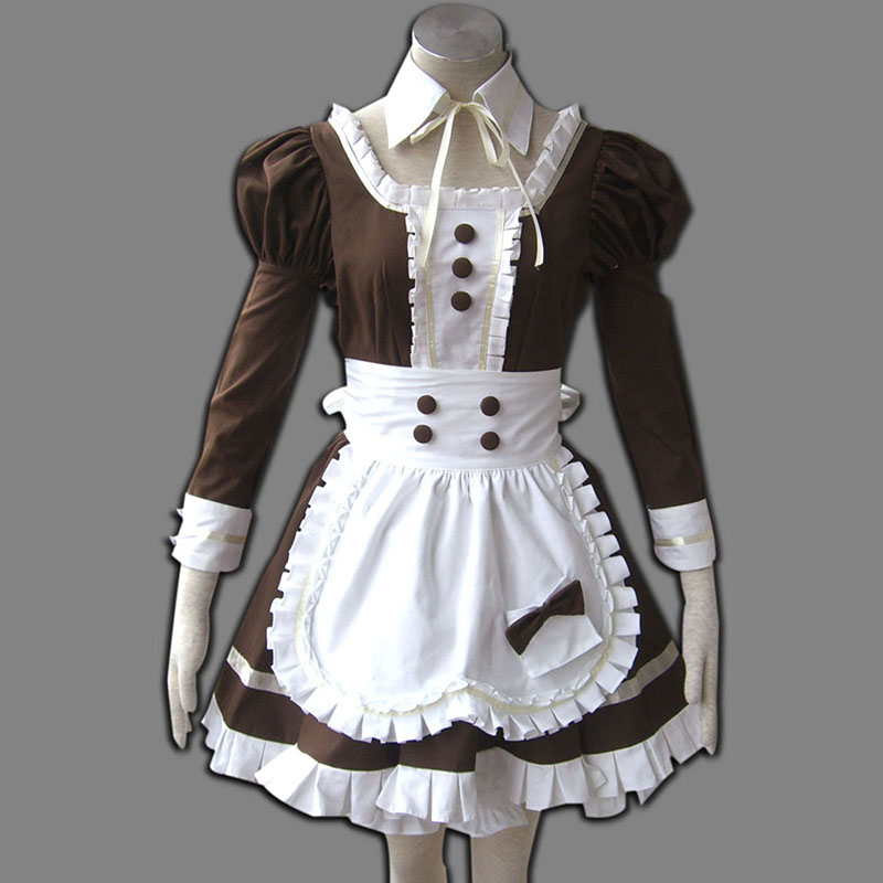 Maid Uniform 4 Coffee Whispery Cosplay Costumes New Zealand Online Store