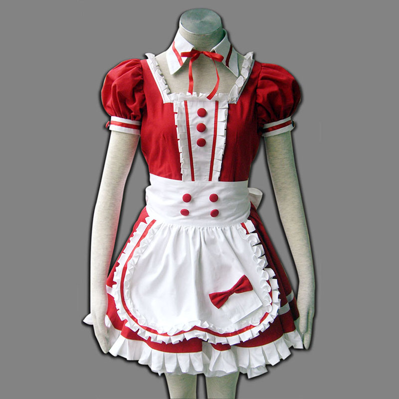 Red Maid Uniform 6 Cosplay Costumes New Zealand Online Store