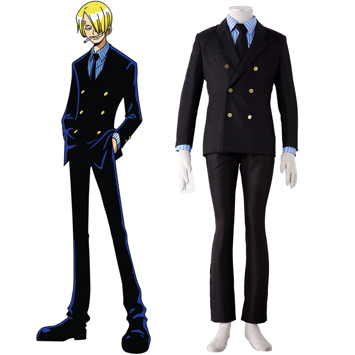 One Piece Sanji 1 Cosplay Costumes New Zealand Online Store