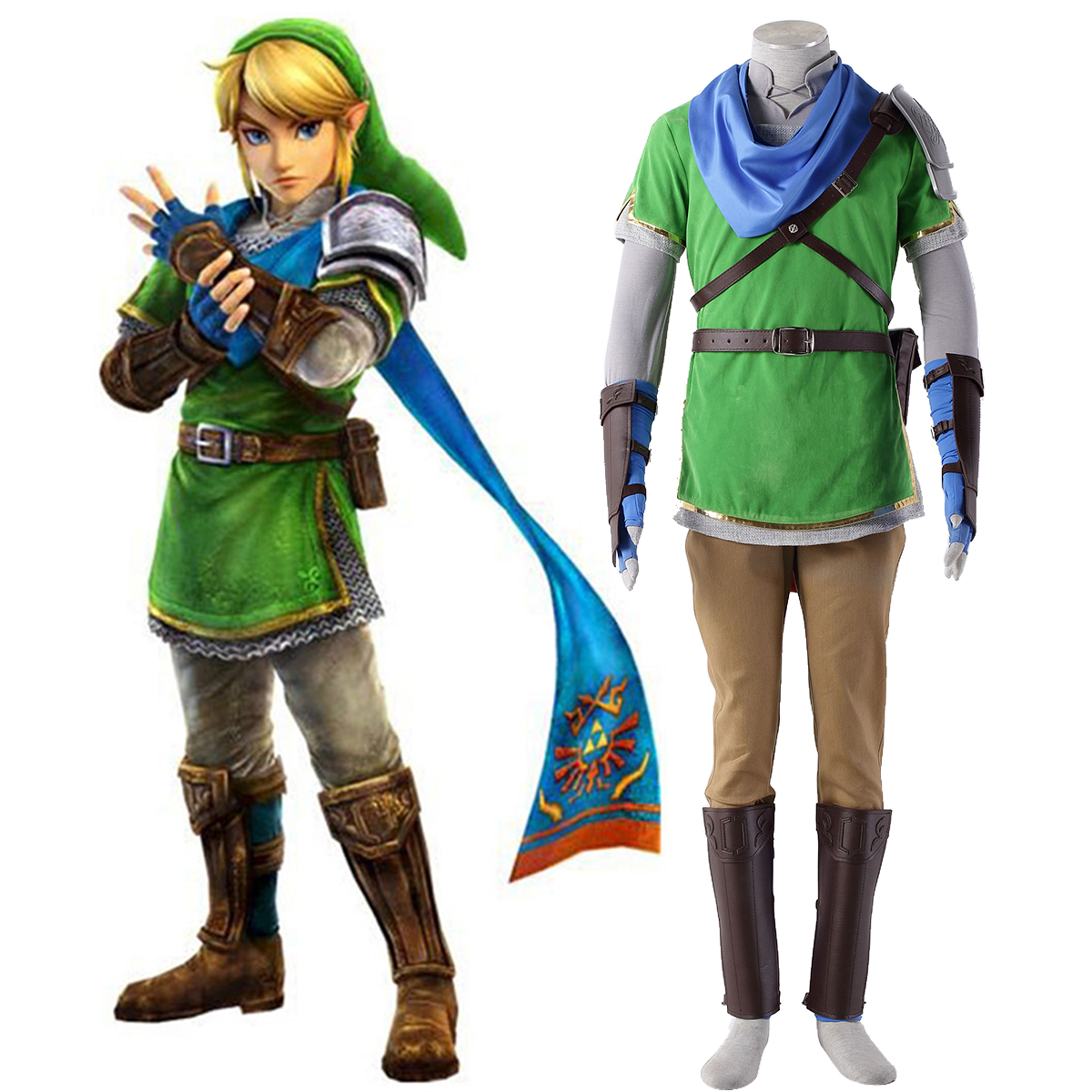 The Legend of Zelda Hyrule-Warriors Link 5 Cosplay Costumes New Zealand Online Store