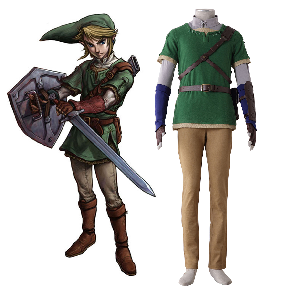 The Legend of Zelda Twilight Princess Link 4 Cosplay Costumes New Zealand Online Store