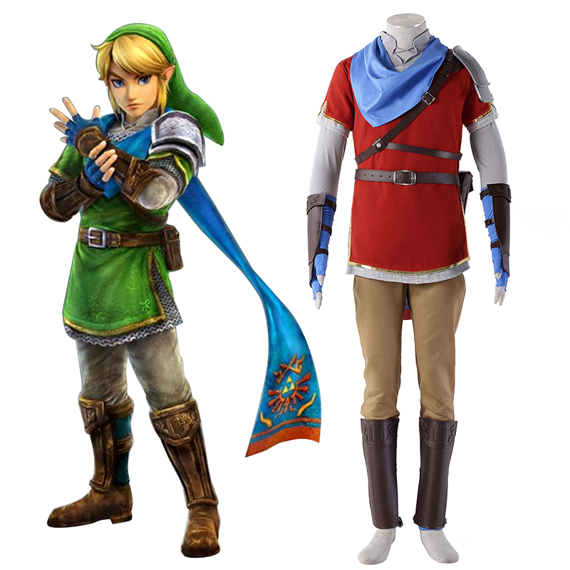 The Legend of Zelda Hyrule-Warriors Link 6 Red Cosplay Costumes New Zealand Online Store