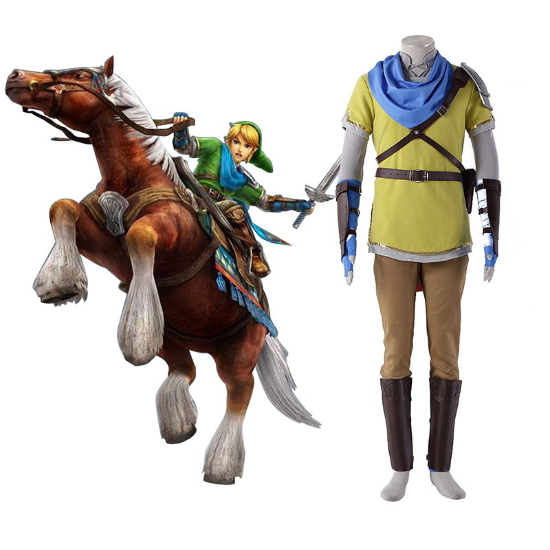 The Legend of Zelda Hyrule-Warriors Link 7 Yellow Cosplay Costumes New Zealand Online Store