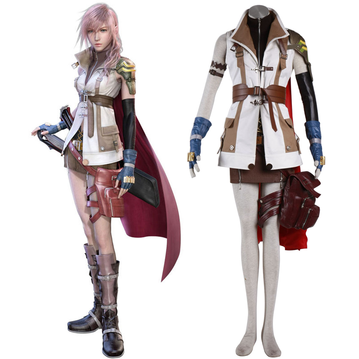 Final Fantasy XIII Lightning 1 Cosplay Costumes New Zealand Online Store