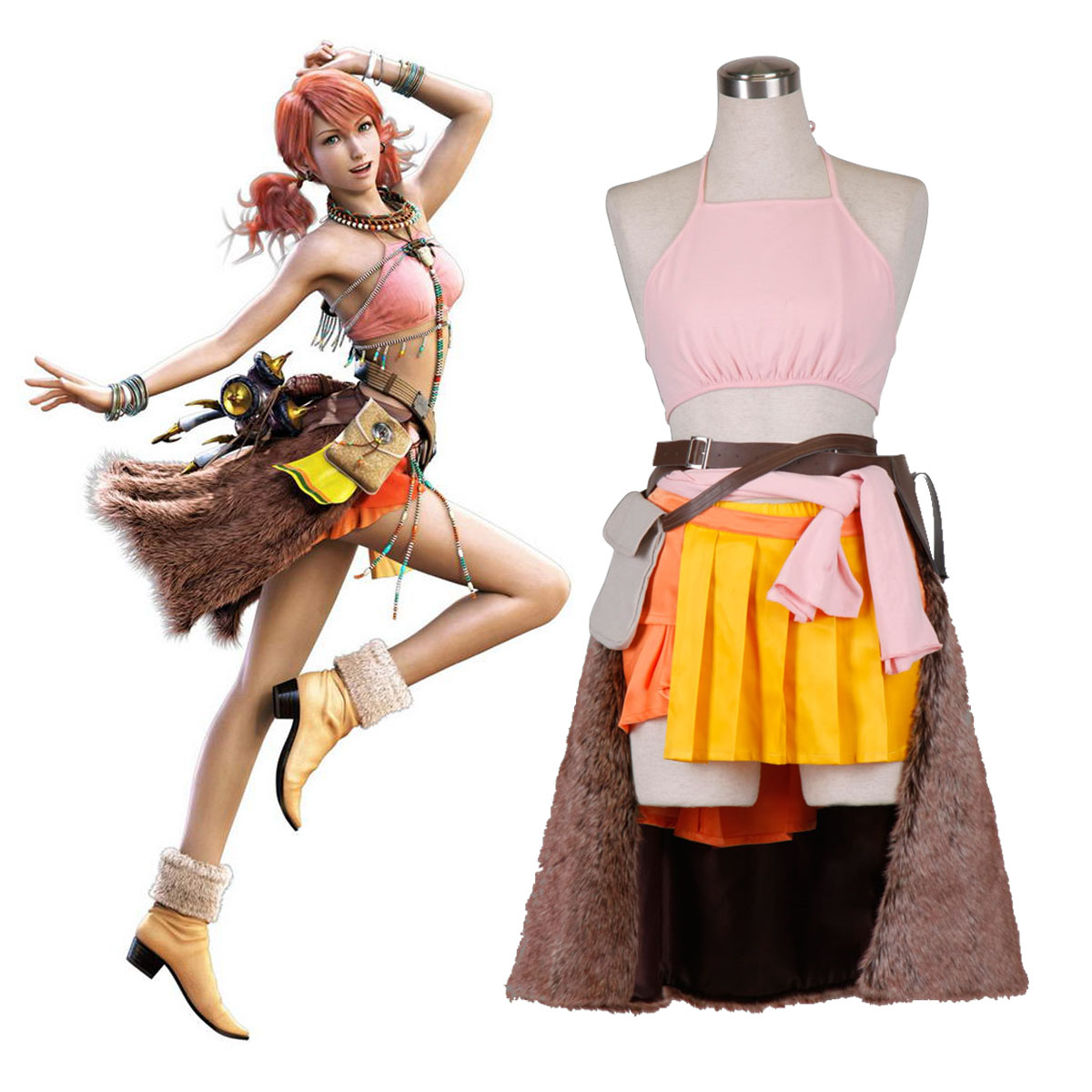 Final Fantasy XIII Oerba Dia Vanille 1 Cosplay Costumes New Zealand Online Store