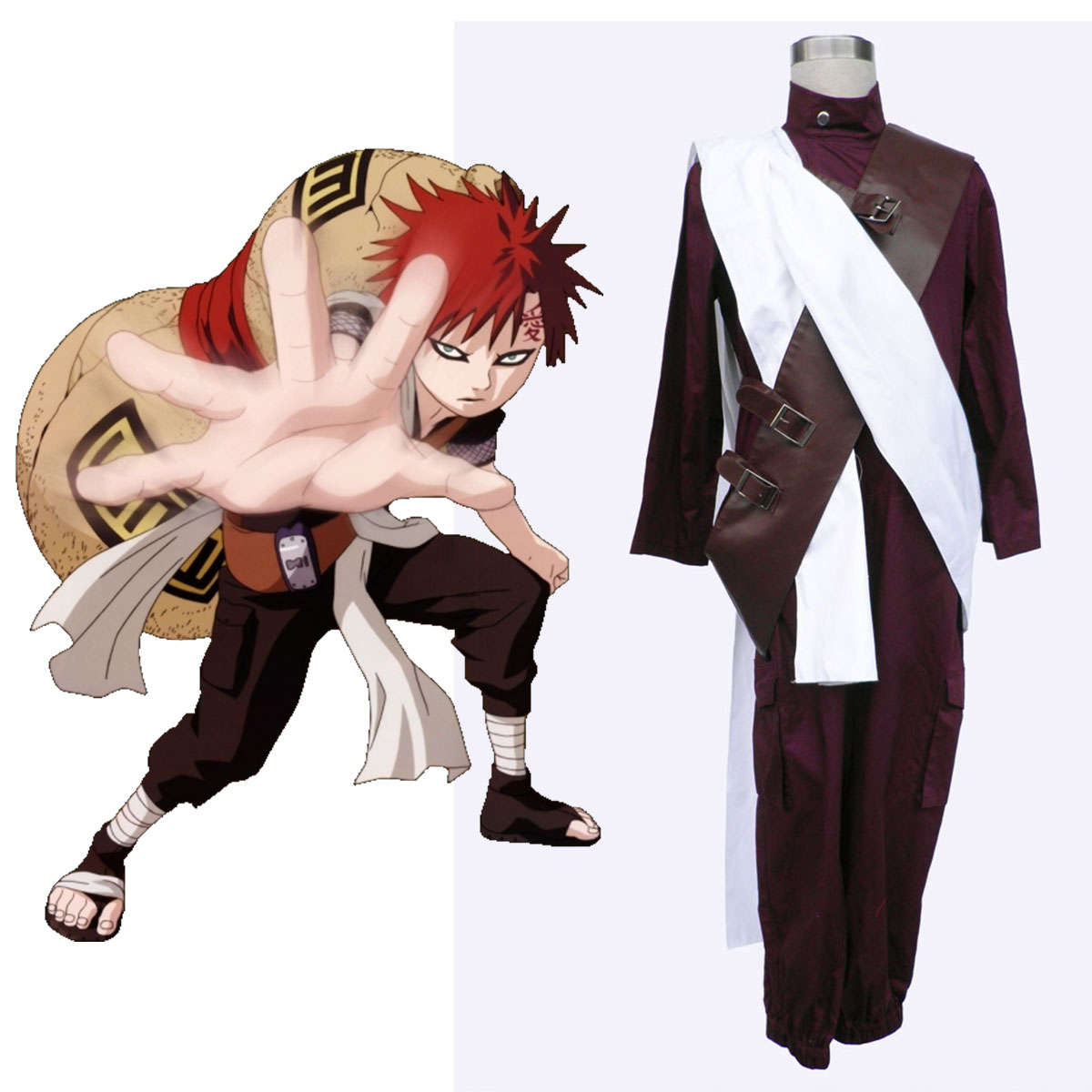 Naruto Gaara 3 Cosplay Costumes New Zealand Online Store