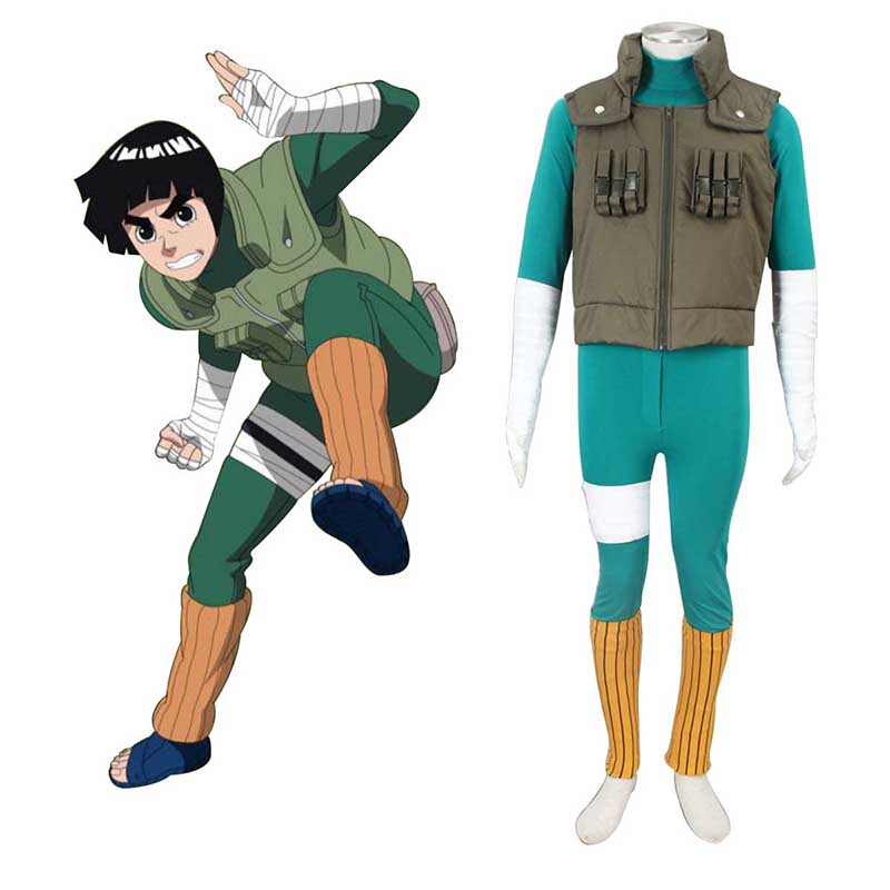 Naruto Shippuden Rock Lee 2 Cosplay Costumes New Zealand Online Store