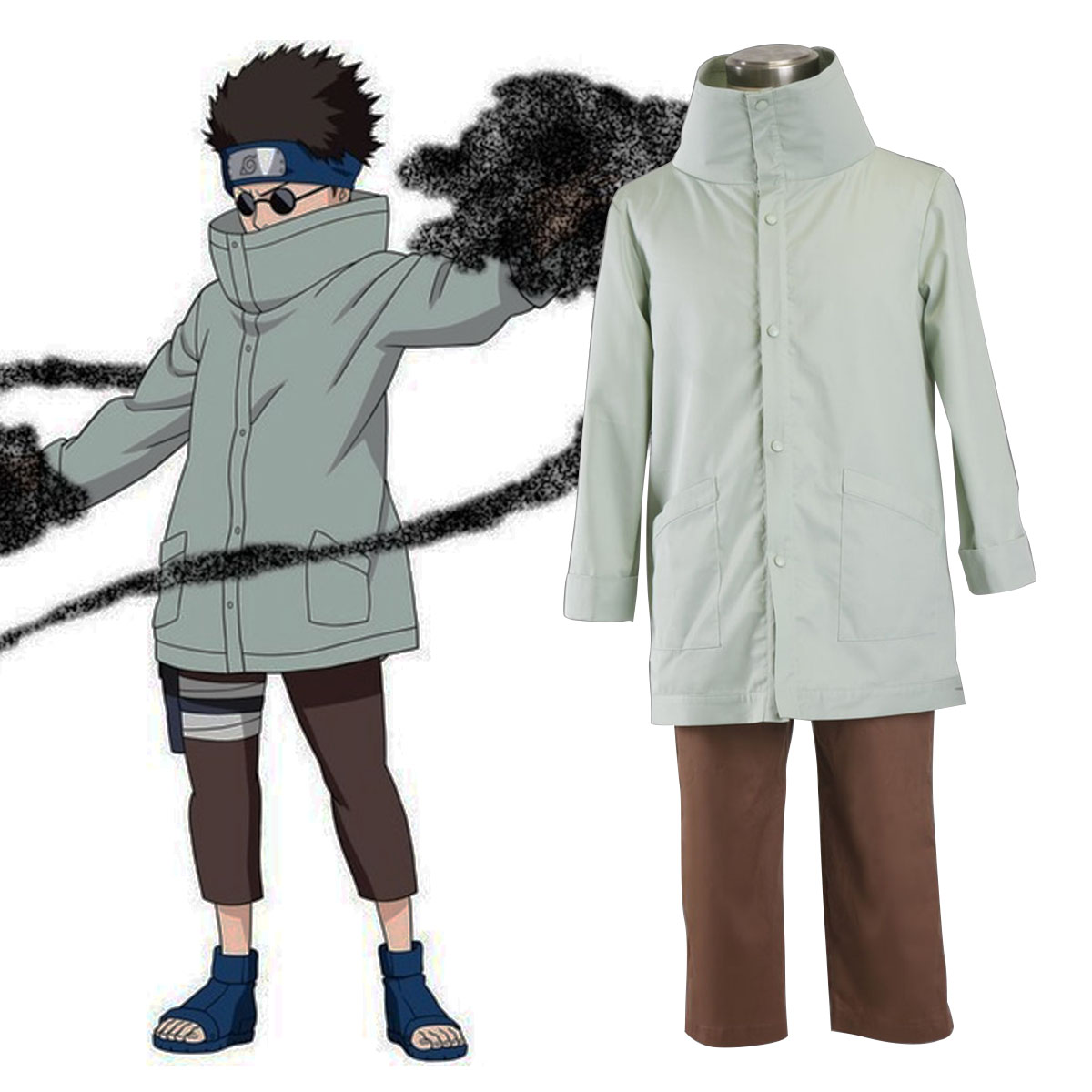 Naruto Aburame Shino 1 Cosplay Costumes New Zealand Online Store