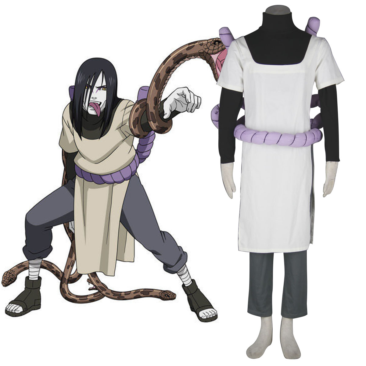 Naruto Orochimaru 1 Cosplay Costumes New Zealand Online Store