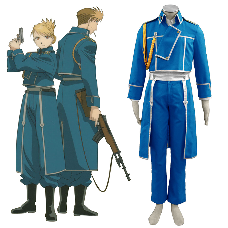 Fullmetal Alchemist Male Military Uniform Cosplay Costumes New Zealand Online Store
