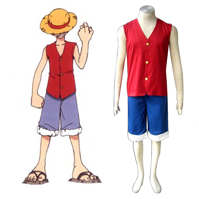 One Piece Monkey D. Luffy 1 Red Cosplay Costumes New Zealand Online Store
