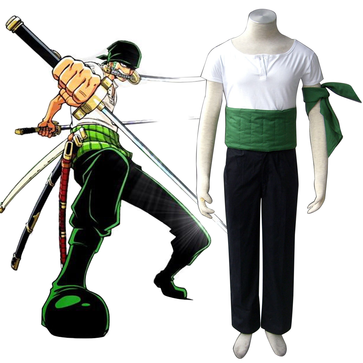 One Piece Roronoa Zoro 1 Cosplay Costumes New Zealand Online Store