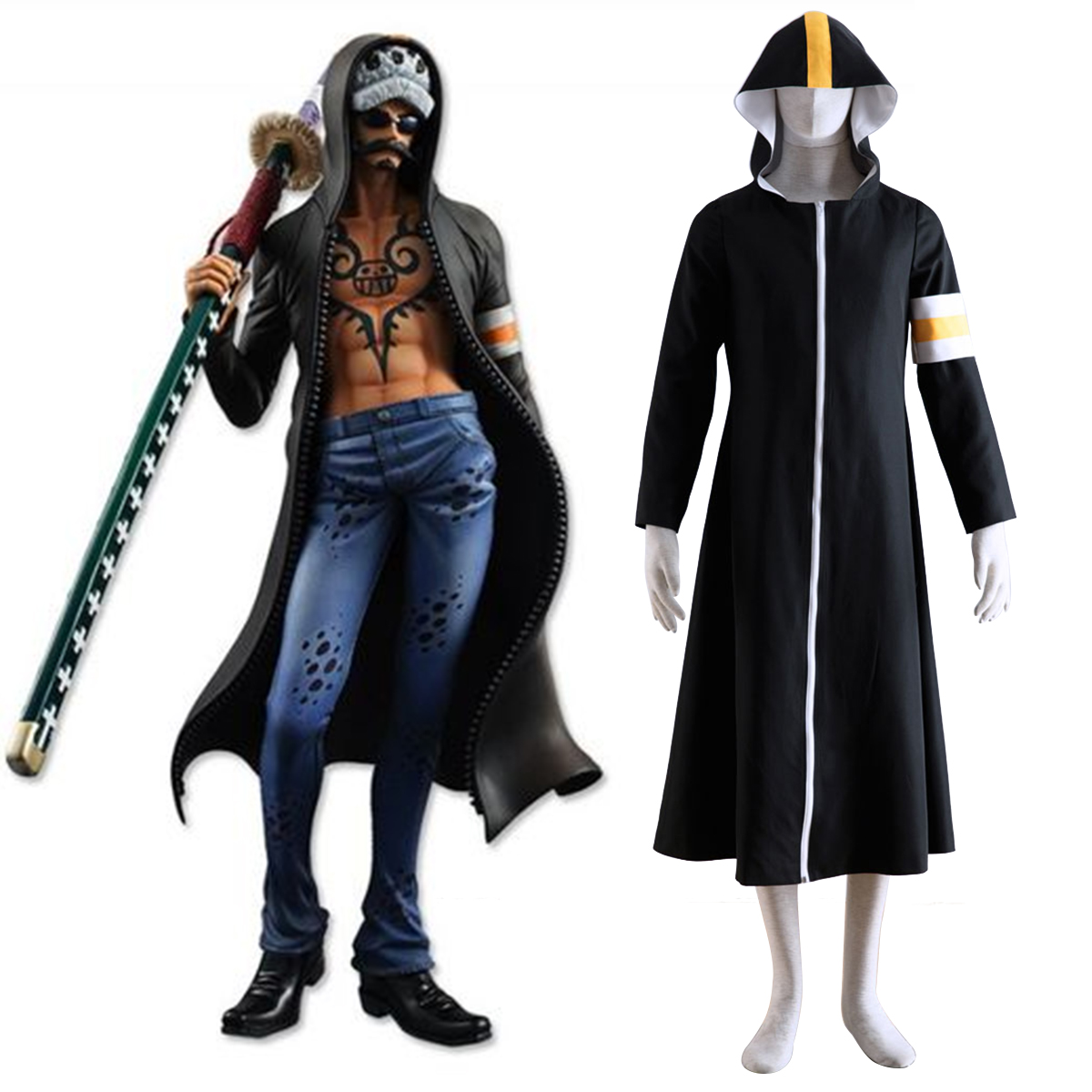 One Piece Surgeon of Death Trafalgar Law 1 Cosplay Costumes New Zealand Online Store