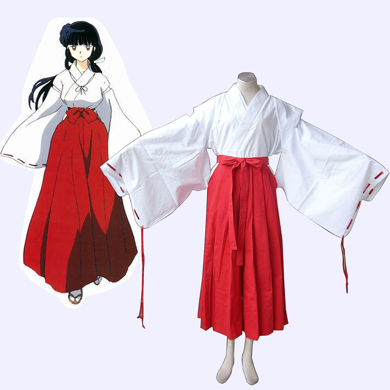 Inuyasha Kikyou Miko Cosplay Costumes New Zealand Online Store
