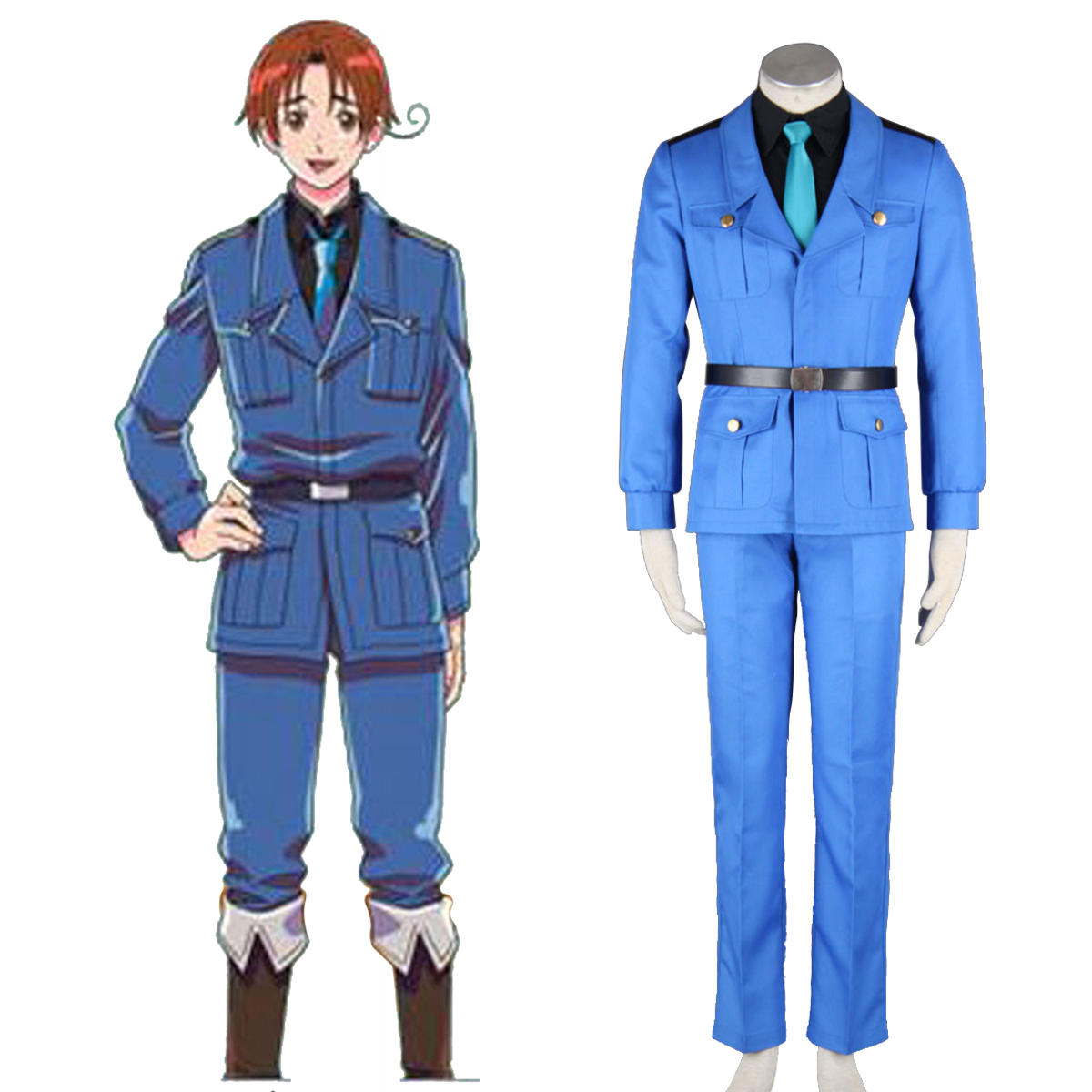 Axis Powers Hetalia APH North Italy Feliciano Vargas 3 Cosplay Costumes New Zealand Online Store