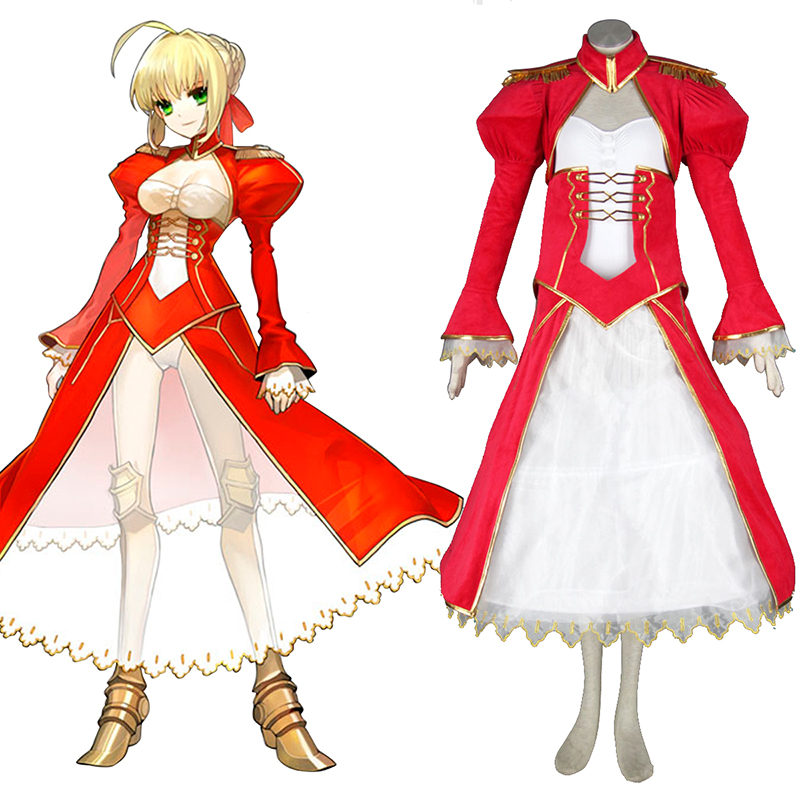 The Holy Grail War Saber 2 Red Cosplay Costumes New Zealand Online Store