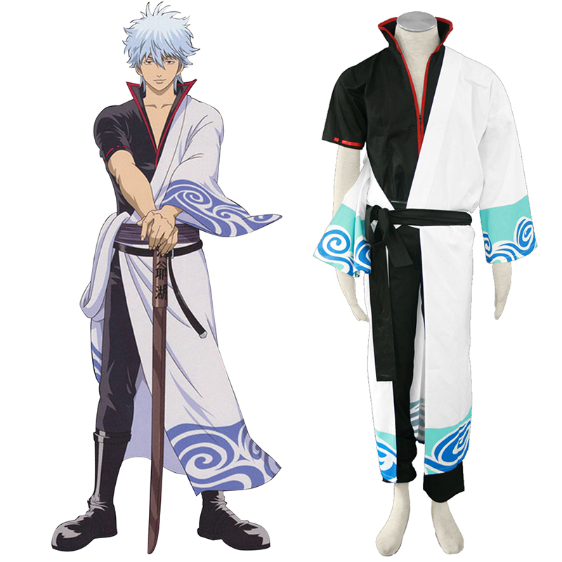 Gin Tama Sakata Gintoki 1 Black Belt Cosplay Costumes New Zealand Online Store
