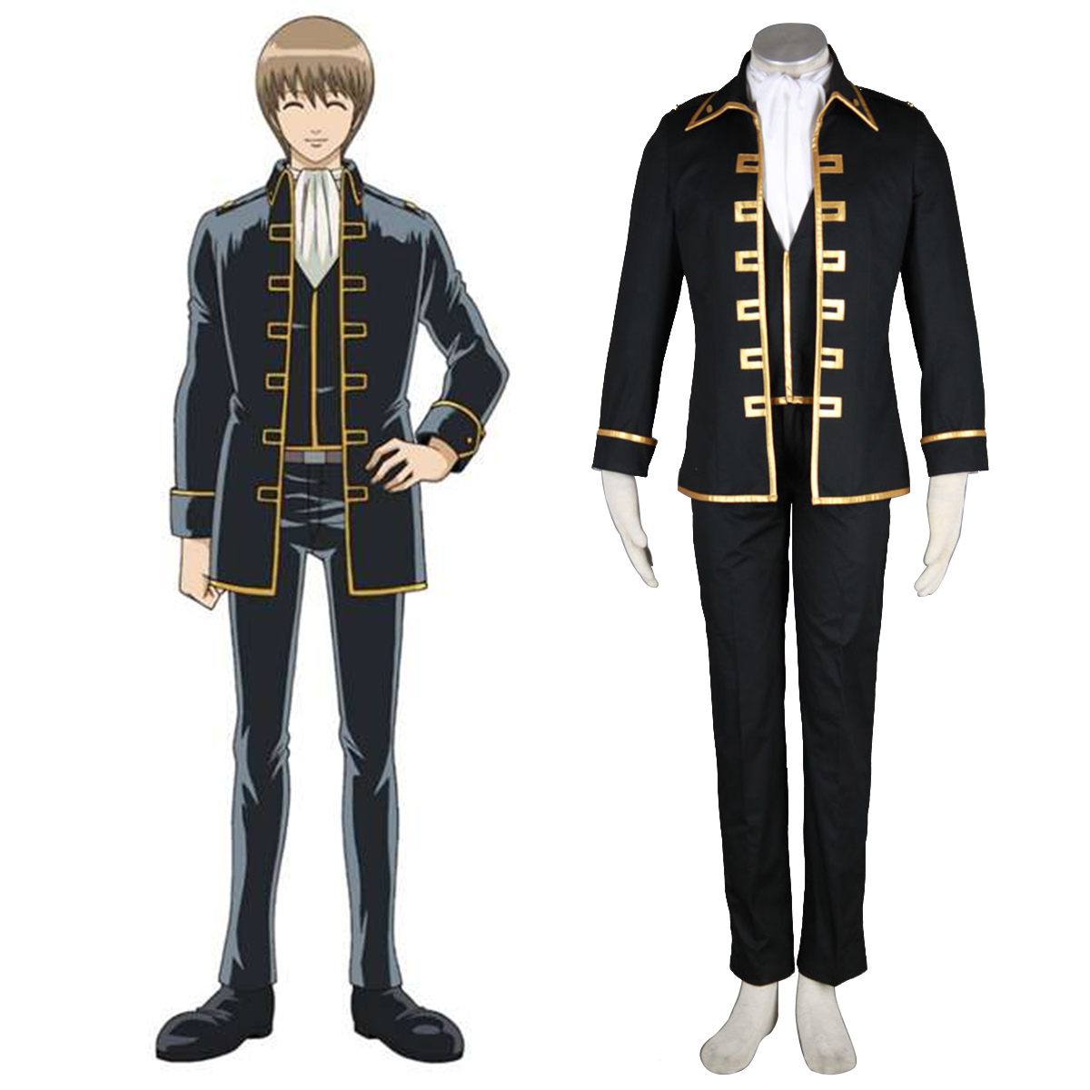 Gintama Shinsengumi Captain Cosplay Costumes New Zealand Online Store