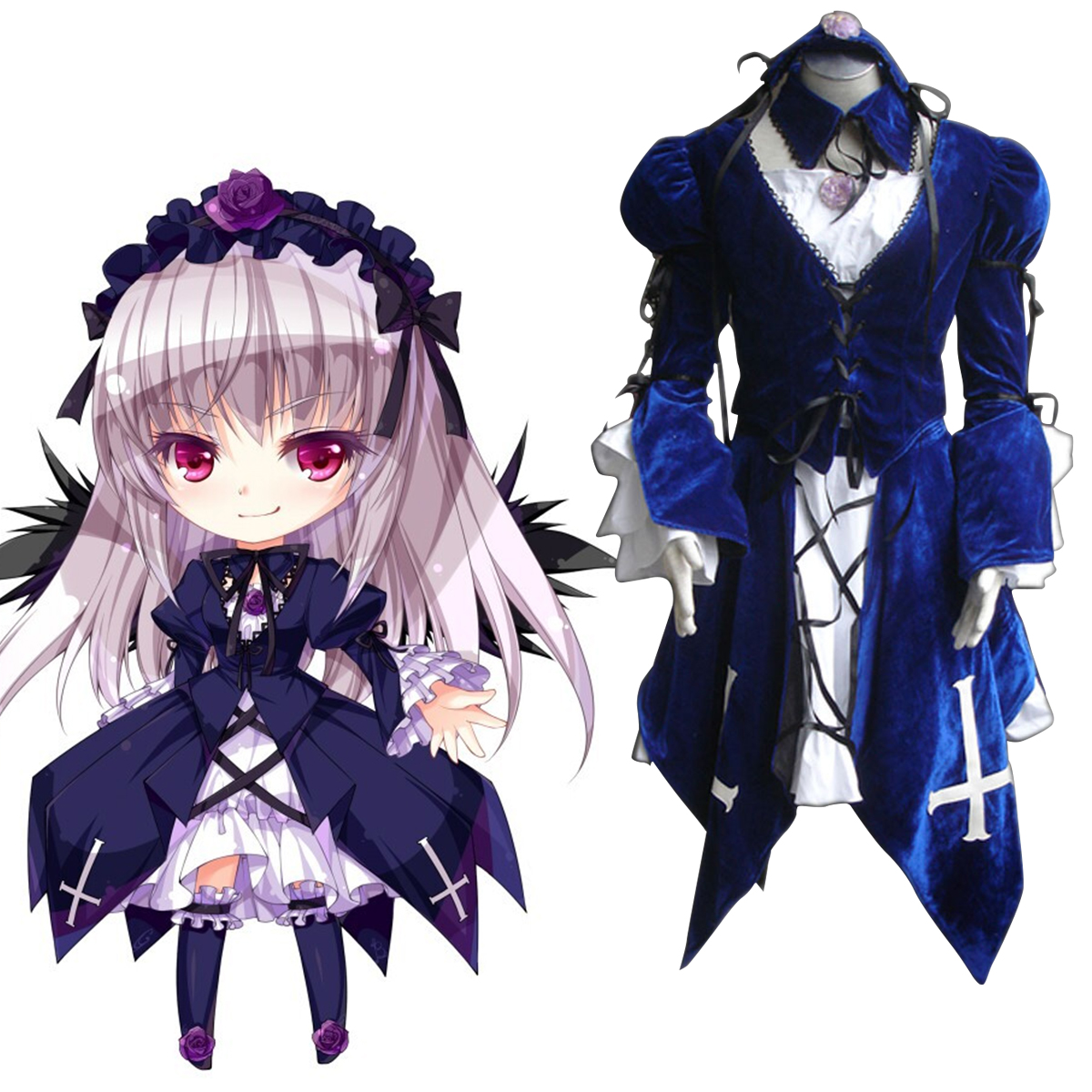Rozen Maiden Suigintou 1 Cosplay Costumes New Zealand Online Store
