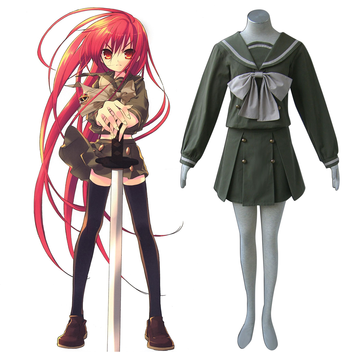 Shakugan no Shana Shana 2 Winter Sailor Cosplay Costumes New Zealand Online Store