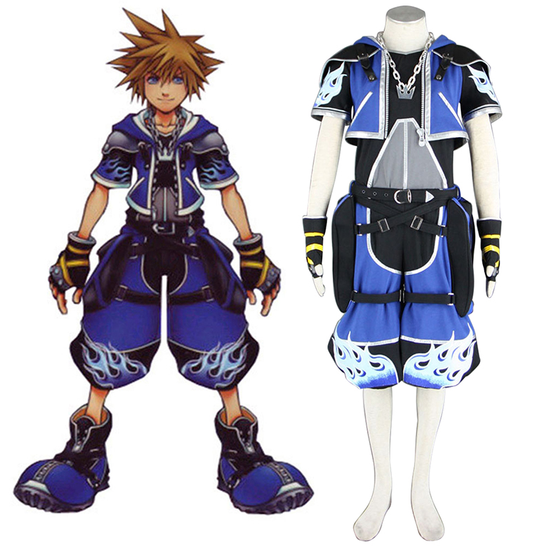 Kingdom Hearts Sora 2 Blue Cosplay Costumes New Zealand Online Store
