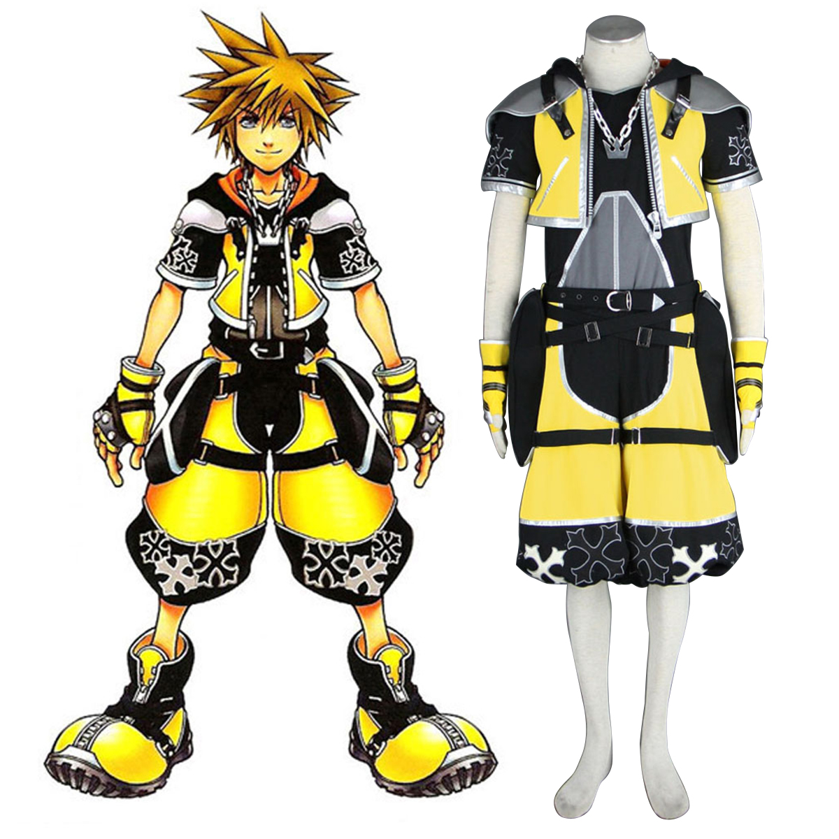 Kingdom Hearts Sora 3 Yellow Cosplay Costumes New Zealand Online Store