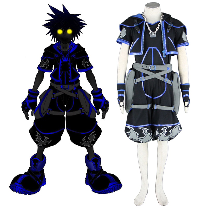 Kingdom Hearts Sora 4 Black Cosplay Costumes New Zealand Online Store