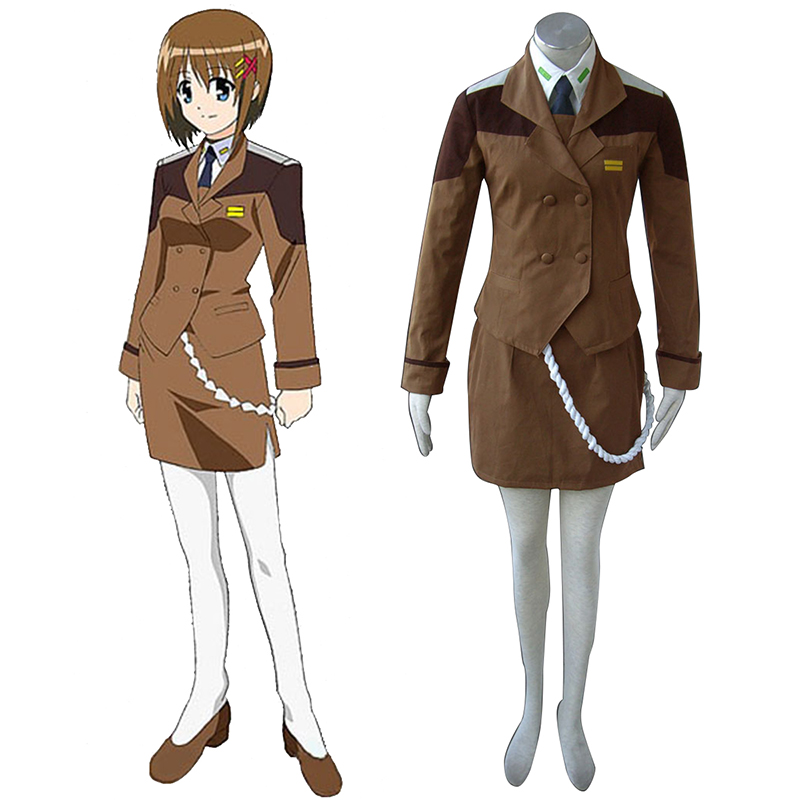 Magical Girl Lyrical Nanoha Female Military Uniform Cosplay Costumes New Zealand Online Store