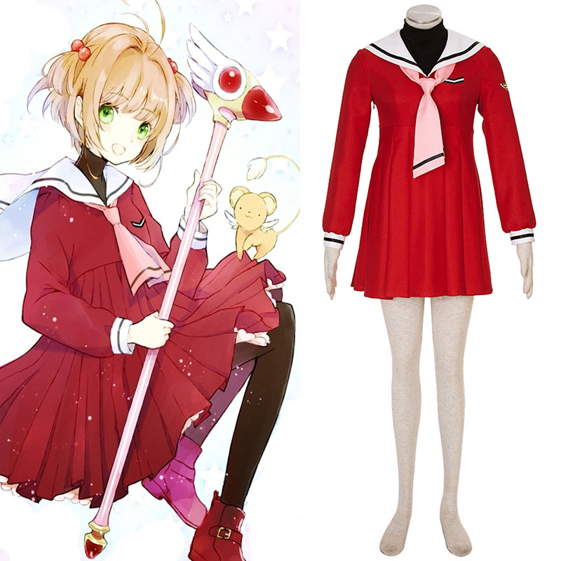 Cardcaptor Sakura Kinomoto Sakura 4 Red Sailor Cosplay Costumes New Zealand Online Store
