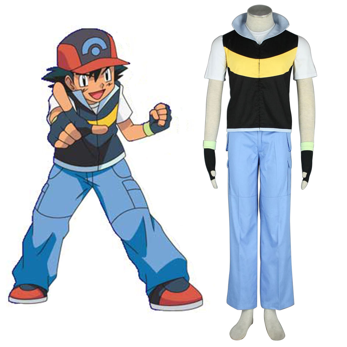 Pokémon Ash Ketchum 1 Cosplay Costumes New Zealand Online Store