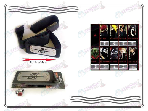 A generation of Naruto Xiao Organization ring + Headband (rebel forbearance)