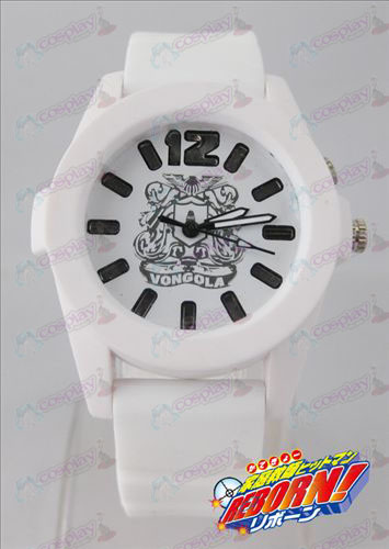 Reborn! Accessories colorful flashing lights Watch - White