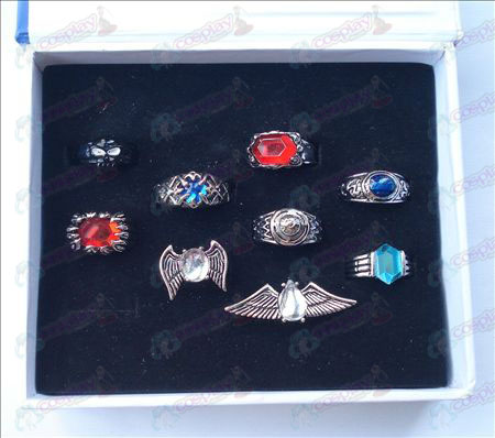 9 mounted Reborn! Accessories Rings