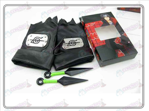 Naruto leather gloves + Double Green having no (rebel forbearance family of four)