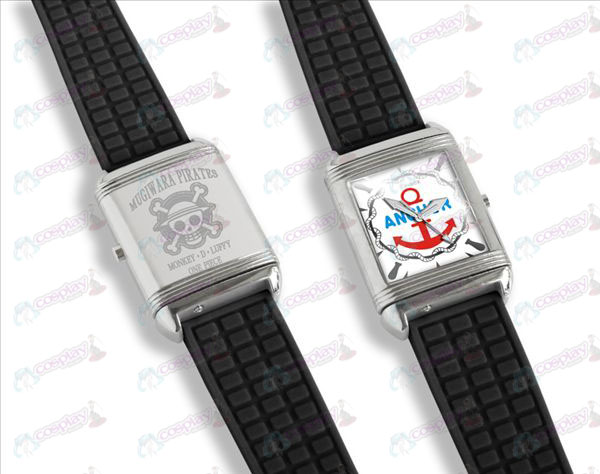 Dual literally flip watches (Luffy)