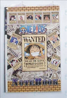 One Piece Accessories Wanted Notebook
