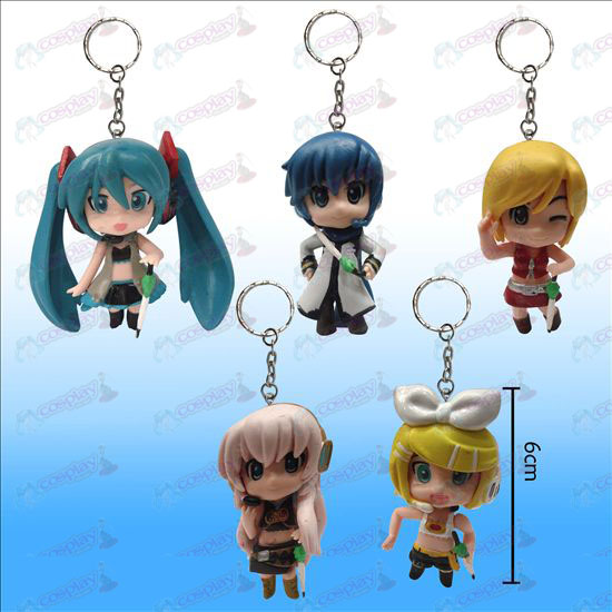 3 Generation 5 models Hatsune doll key chain