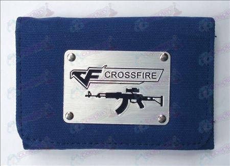CrossFire Accessories White Canvas Wallet (Blue)